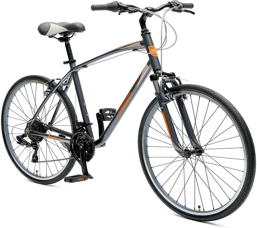 "Best Hybrid Bikes under 500 ""Retrospec Barron Comfort Hybrid Bike 21-Speed with Front Suspension and 700c Wheels with Multi-Surface Tires"""