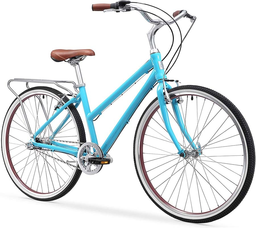 """sixthreezero Explore Your Range Women's Hybrid Commuter Bicycle with Rear Rack"""