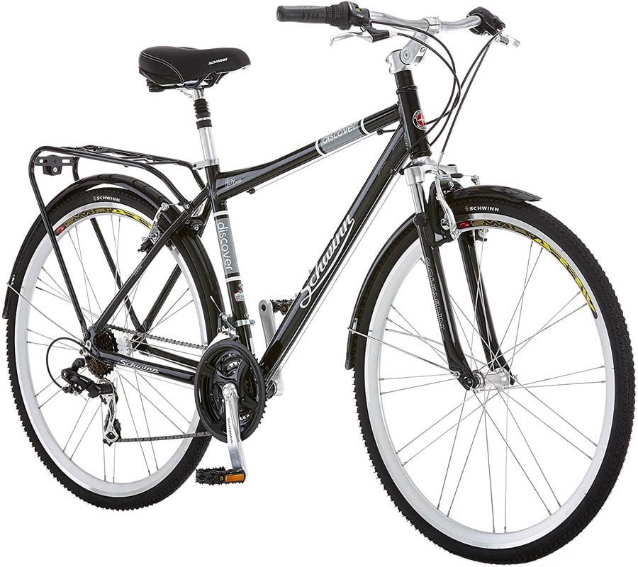 "Best Hybrid Bikes Under 500 ""Schwinn Discover Hybrid Bike for Men and Women, 21-Speed, 28-inch Wheels"""