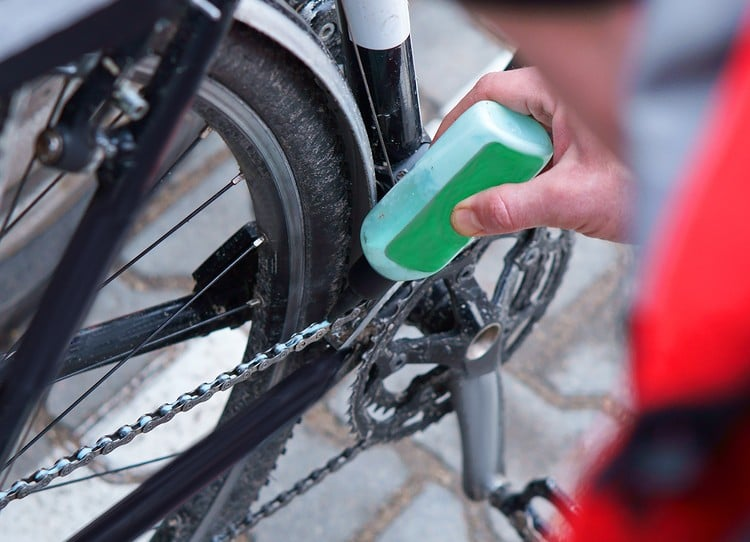 lubricating bike parts