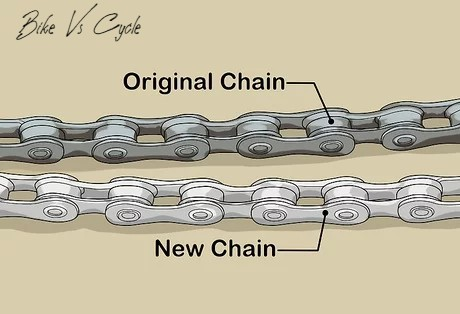 "Preparing the new chain""How To Change A Bike Chain"