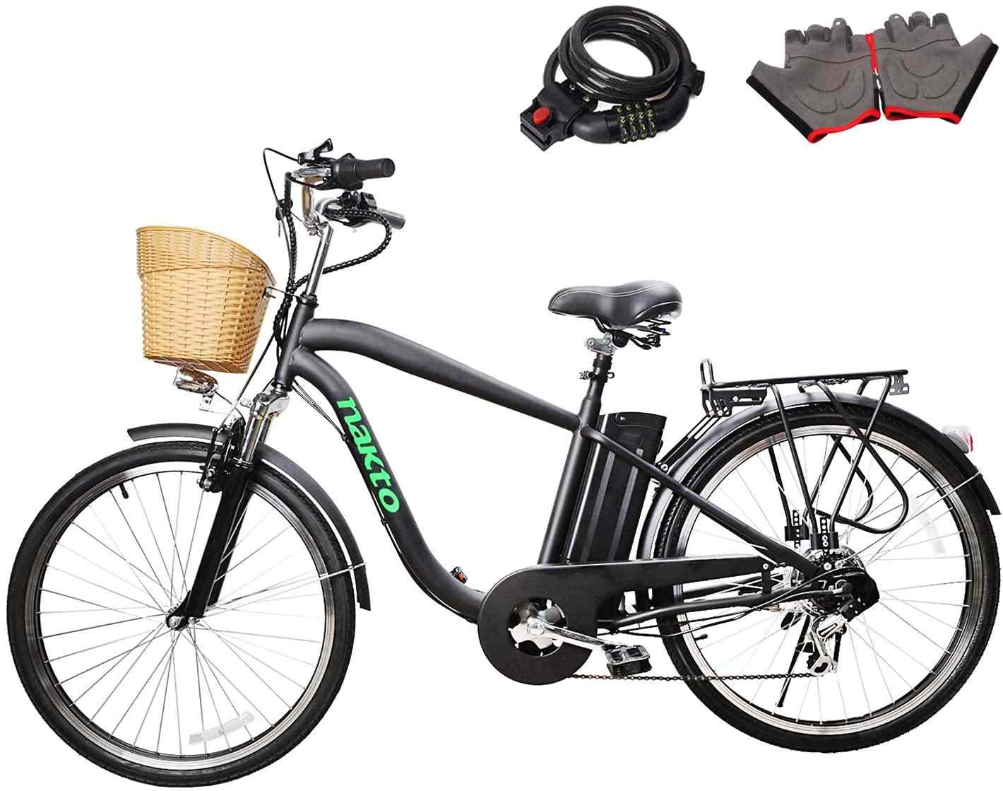 Nakto 250W Shimano 6-Speed Gear Electric Bicycle